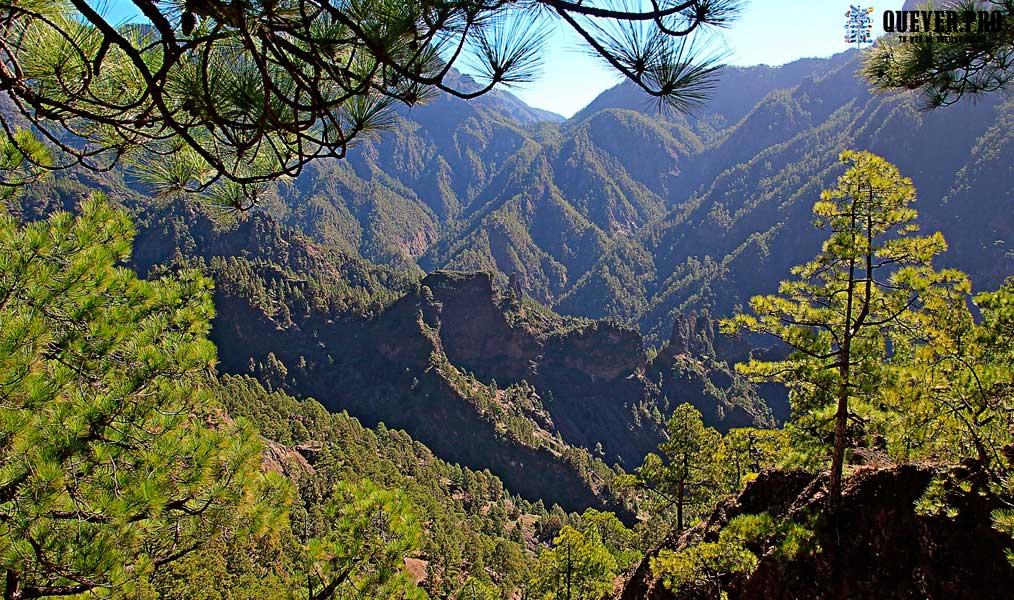 Interior de la Caldera La Palma